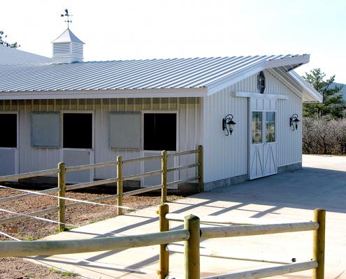Metal Horse Building