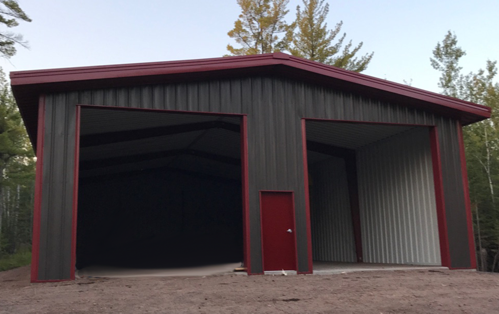 Steel Shop And Garage Building In Two Harbors Minnesota