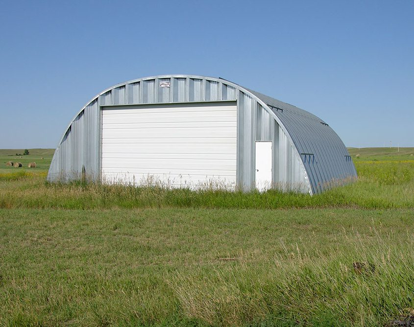 Metal Arch Farm Building