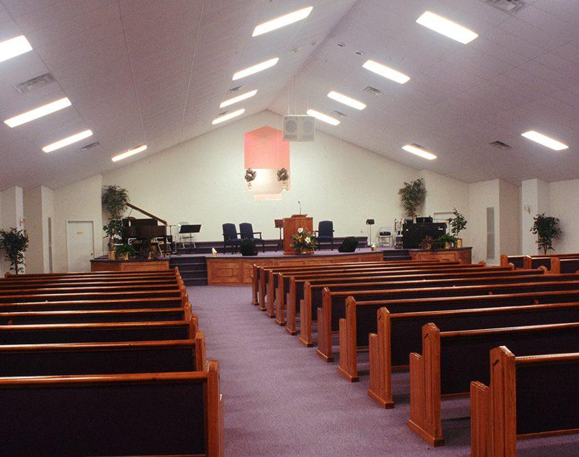 Steel Building Church Interior