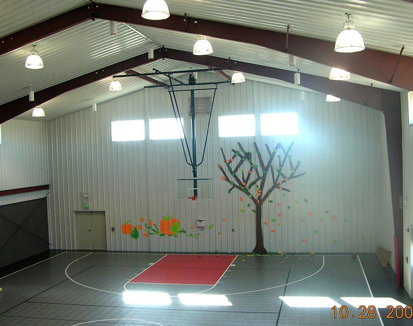 Metal Church Gymnasium Building