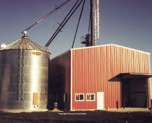 Steel Grain Building