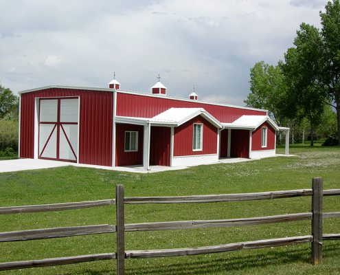 Steel Barn Building