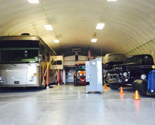 Arch Building Car Storage