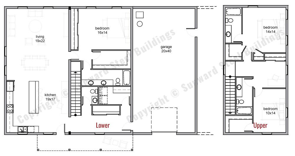 60x40 Barndominium Floor Plan