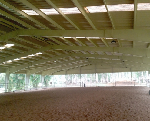 Metal Equestrian Building