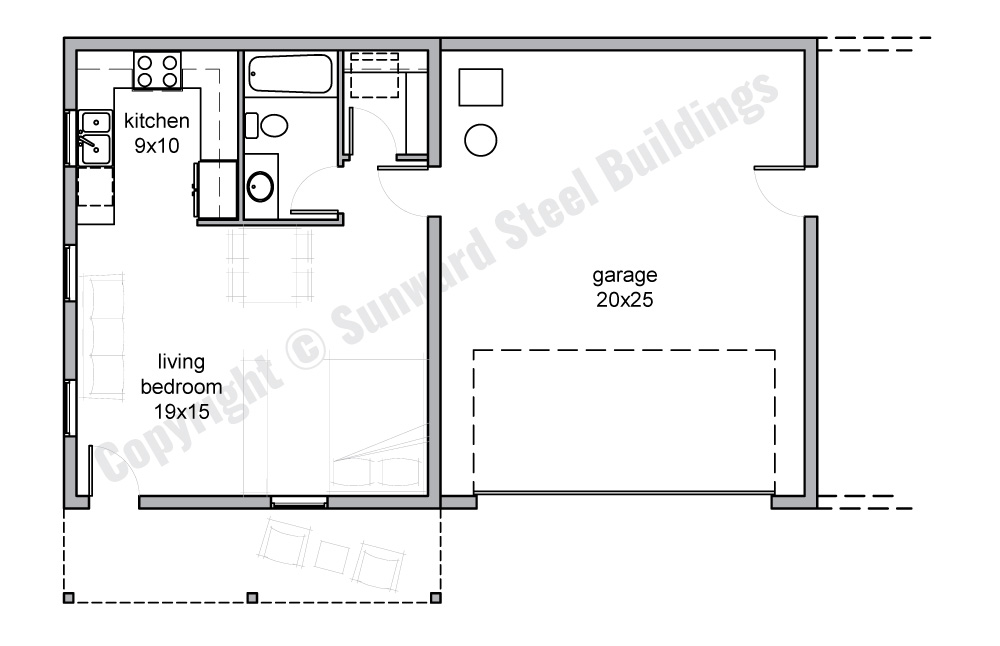 Custom Prefab Steel Home Floorplans From Sunward Steel