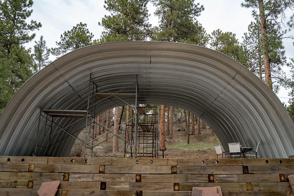 Metal Arch Building