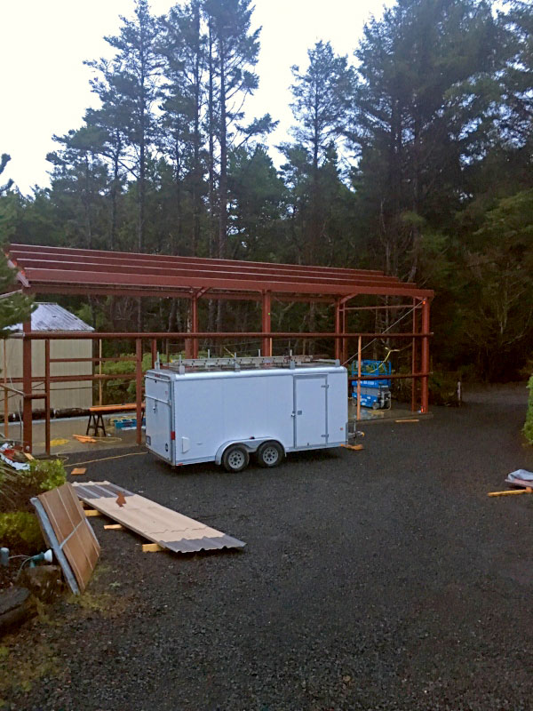 Metal Garage Construction