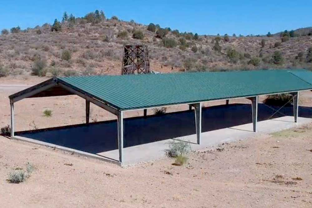 Metal Roof Only Building