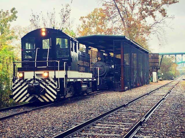 Metal Train Garage