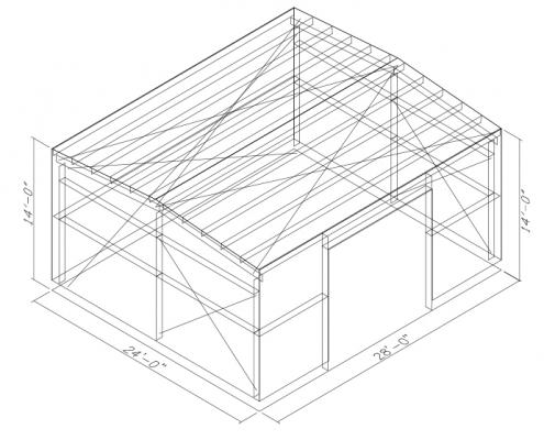 24x28 Clone Building Wireframe