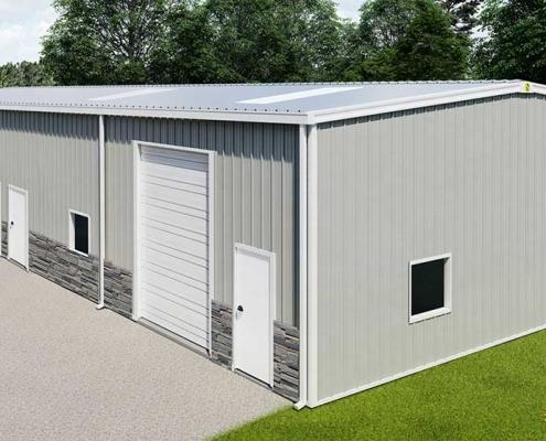 40x100 Building Rendering