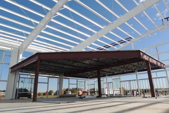 Mezzanine Construction in Steel Building