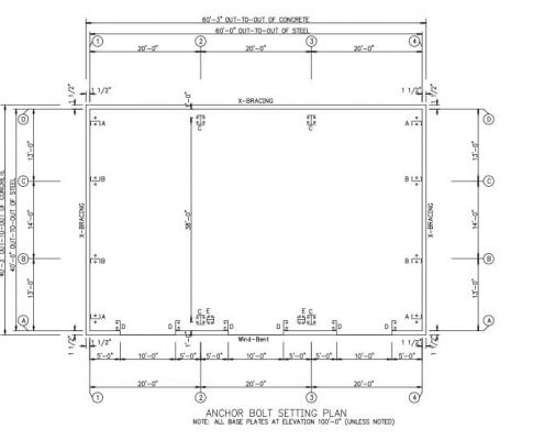 40x60 Anchor Bolt Plans