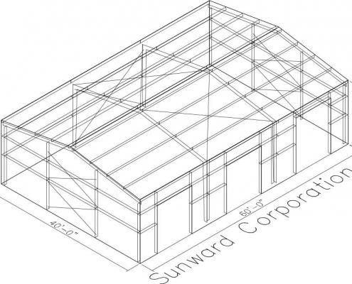 40x60 Metal Building Drawing