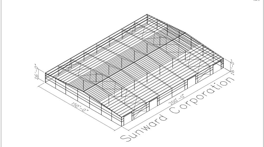 150x200 Steel Building Plans