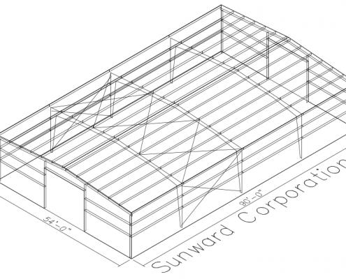 54x90 Steel Building